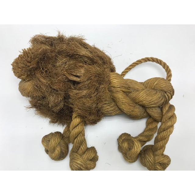 Mid-Century Modern 1960s Mid-Century Danish Braided Rope Lion For Sale - Image 3 of 13