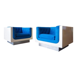 Fiberglass Case Lounge Chairs - A Pair