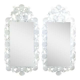 Seashell Iron Mirrors - a Pair