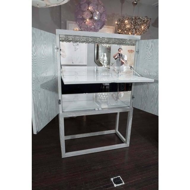 Custom Gray Cerused Bar For Sale In New York - Image 6 of 10