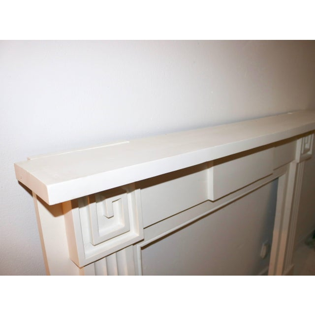 Restored 19th C. Greek Revival White Primed Fireplace Mantel Mantle For Sale - Image 4 of 11