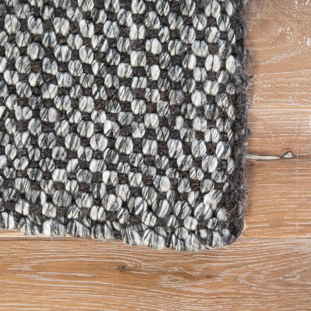 Contemporary Jaipur Living Topper Handmade Solid Black & Gray Area Rug - 2' X 3' For Sale - Image 3 of 6