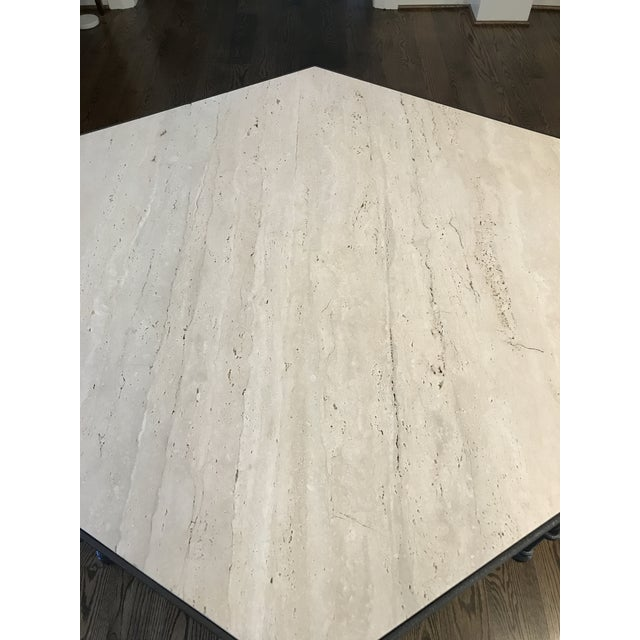 Contemporary Modern Giacometti Style Hexagonal Center Table For Sale - Image 3 of 9