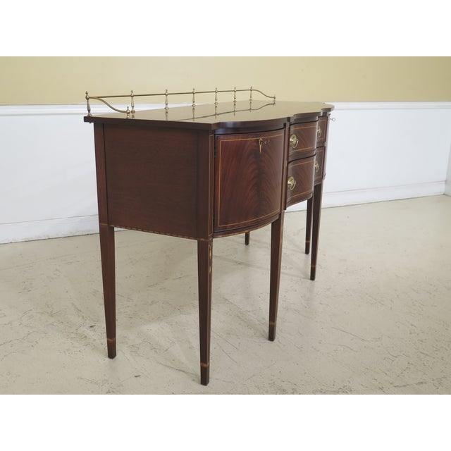1980s Vintage Henkel Harris Mahogany 2367a Inlaid Sideboard For Sale - Image 9 of 13