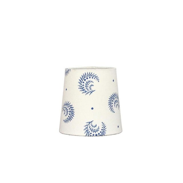 Desmond Sister Parish Fabric Chandelier Sconce Lamp Shade in China Blue For Sale - Image 4 of 4