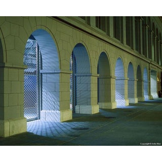 "Contemporary Night Photograph ""Ferry Building Arches"" by John Vias For Sale"