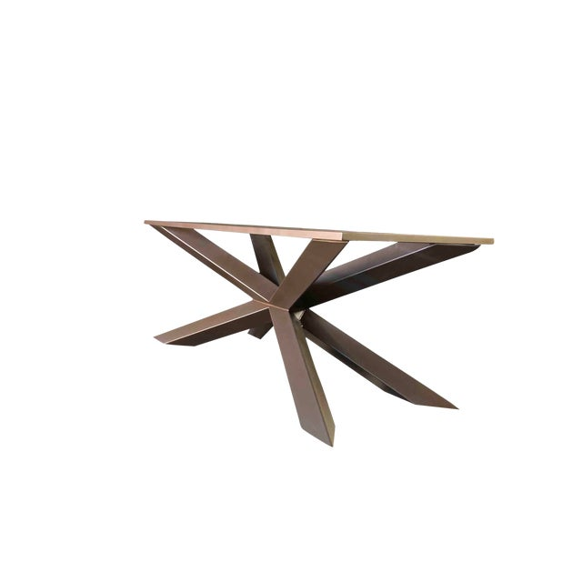 Modern Dining Table or Conference Table by Invictus Steelworks For Sale