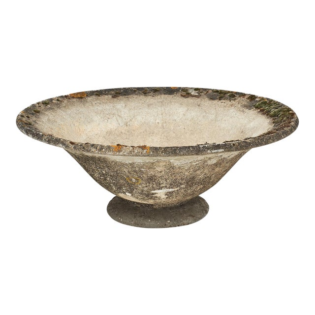 Vintage French Cement Jardiniere For Sale