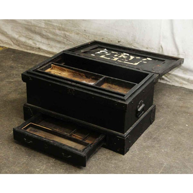 Vintage Accessories Box With Iron Straps For Sale - Image 5 of 10