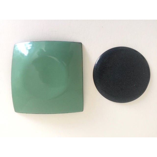 Mid-Century Copper & Enamel Plates - A Pair For Sale - Image 10 of 10