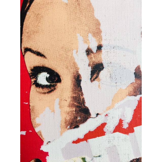 1970s Pop Art Mimmo Rotella Limited Edition on Canvas For Sale - Image 5 of 6