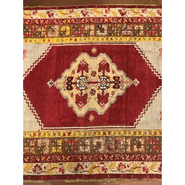 Islamic Antique Wool Turkish Rug For Sale - Image 3 of 5