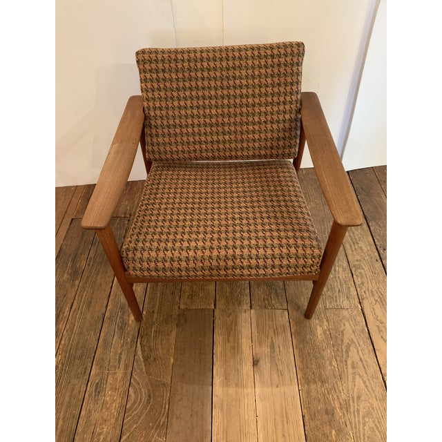 Brown Danish Mid Century Modern Teak and Upholstered Club Chairs- A Pair For Sale - Image 8 of 9