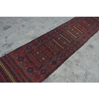 "Afghan Tribal Soumak Kilim Runner-2'3'x10'1"" Preview"