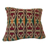 Image of Moroccan Handwoven Pillow With Tribal African Designs For Sale