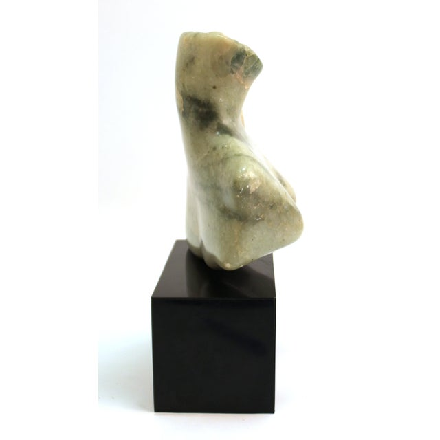 Mid-Century Modern Mid-Century Modern Abstract Carved Stone Female Bust Sculpture For Sale - Image 3 of 11