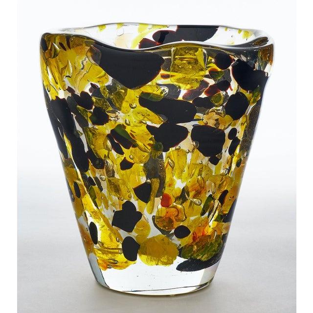 "Contemporary Contemporary Murano Glass ""Pollock"" Vase For Sale - Image 3 of 12"