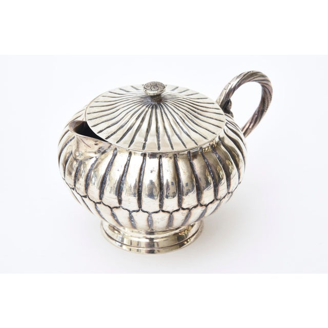 Sterling Silver Hallmarked Sanborn Tea/Coffee Service For Sale In Miami - Image 6 of 10