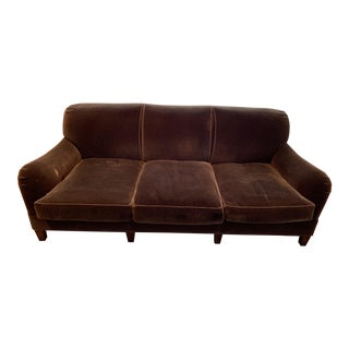 Modern Schumacher Mohair Three Seat Sofa / 2 Available For Sale