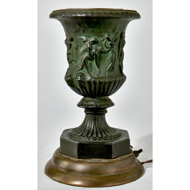 Late 19th Century 19th Century French Bronze Vase Converted Into a Lamp For Sale - Image 5 of 9