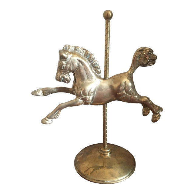 Vintage Brass Carousel Horse For Sale