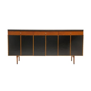 Paul McCobb Credenza or Sideboard, Walnut with Original Marble Top For Sale
