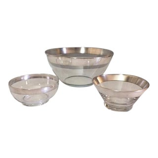 Mid-Century Dorothy Thorpe Serving Bowls - 3 Piece For Sale