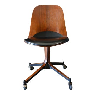 Swivel Desk Chair by George Mulhauser for Plycraft, 1965 For Sale