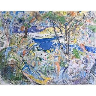 "Neil Brooks ""Dog Beach"" Landscape Painting For Sale"