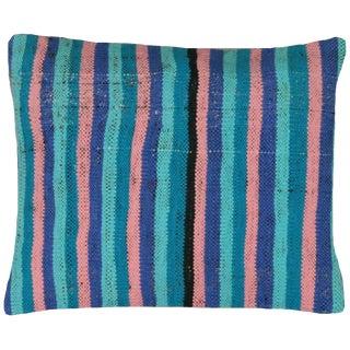 "Nalbandian - Turkish Adana Rag Rug Pillow, 16"" X 19"" For Sale"