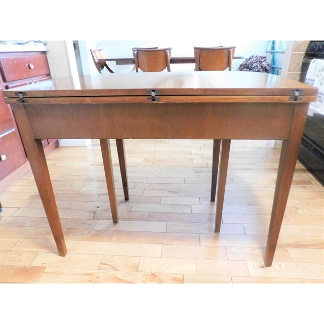 Antique Demi-Lune Mahogany Marquetry Extension Dining Table For Sale - Image 11 of 11