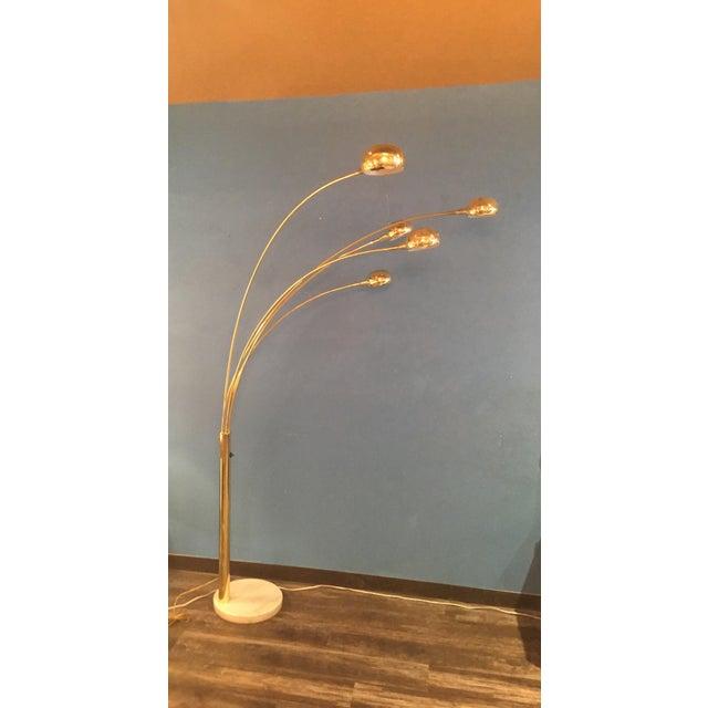 Brass Eyeball Floor Lamp For Sale - Image 4 of 6