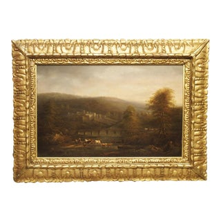 18th Century Continental Oil on Board Landscape Painting For Sale