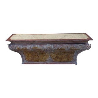 18th C. Italian Painted Altar Table For Sale