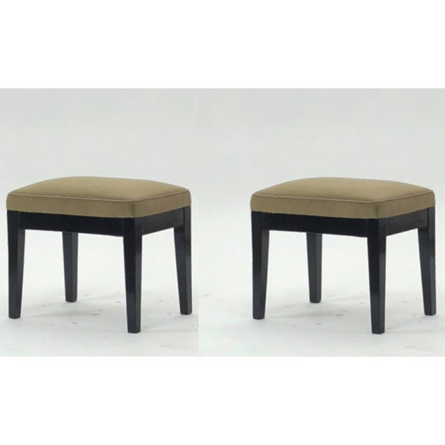 Style of Jean Michel Frank Pair of Stools For Sale - Image 6 of 6