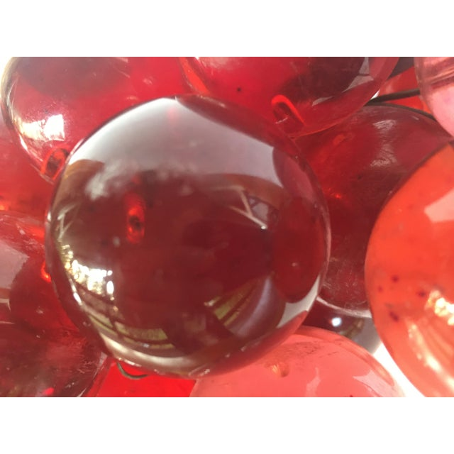 1960's Bunch of Lucite Ruby Red Grapes For Sale In Monterey, CA - Image 6 of 10