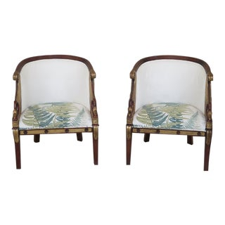 Vintage Maitland-Smith Mahogany Club Chairs - A Pair For Sale