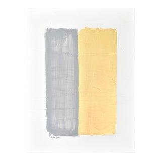 Gilded Bars No. 6 Dark Gray - Textural Painting 3040