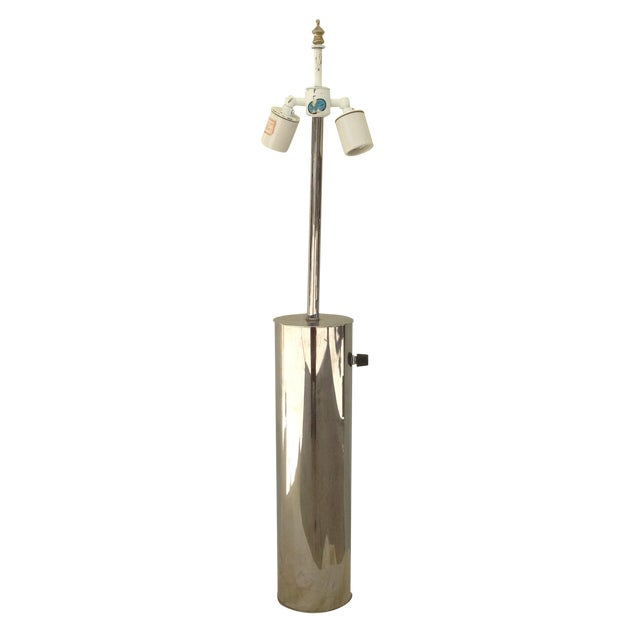 Chrome Cylinder Table Lamp by Nessen Studios NYC - Image 1 of 6