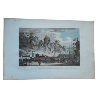 Antique Folio Size Arigento, Sicily Engraving For Sale
