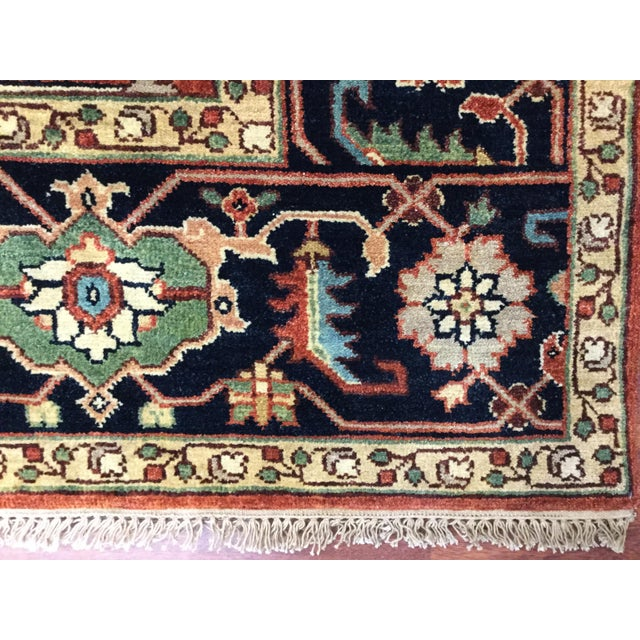 Beautiful Indo Persian all over Heriz rug from India. The piece is in excellent condition with a good pile throughout,...