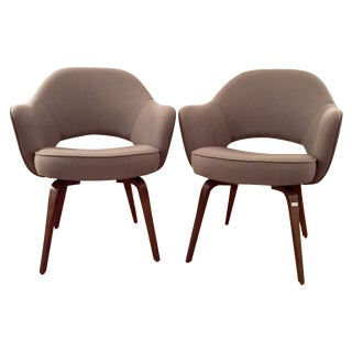 Knoll Saarinen Executive Armchairs - A Pair For Sale