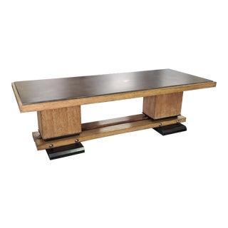 Henredon Furniture Montaigne Oak Mid Century Modern Cocktail Table For Sale