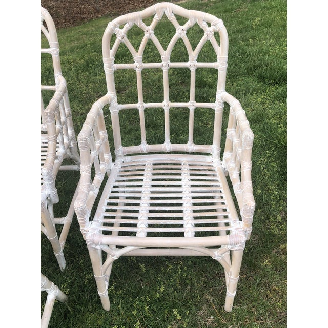 Vintage Chippendale Style Bamboo Dining Chairs - Set of 6 For Sale In New York - Image 6 of 9