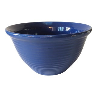 Vintage Bauer Blue Pottery Bowl