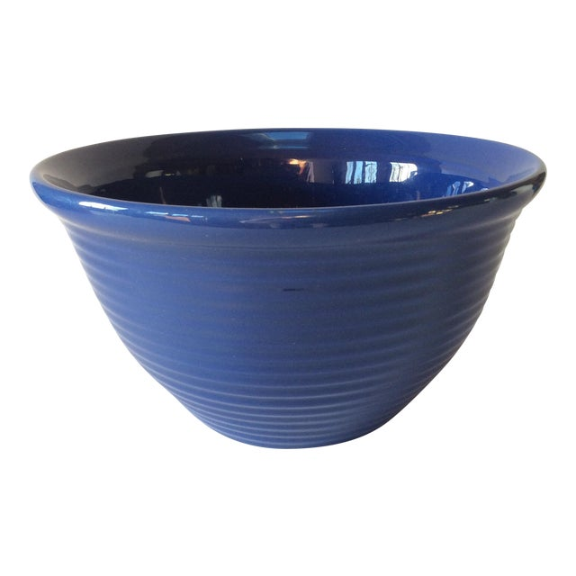 Vintage Bauer Blue Pottery Bowl For Sale