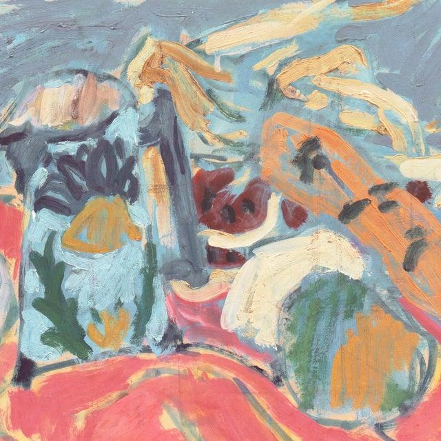 Impressionist 'Still Life' by Victor Di Gesu; 1955 Paris, Louvre, Académie Chaumière, California Post-Impressionist, Lacma For Sale - Image 3 of 10