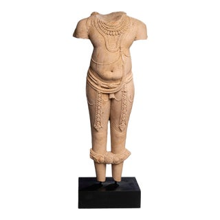 Indian Pink Sandstone Figure of a Deity, Central India, 11th/12th Century For Sale