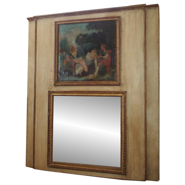 19th Century French Trumeau Mirror For Sale - Image 9 of 9