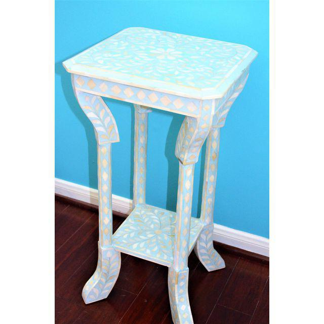 Indian Bone Inlay Side Table - Image 7 of 10